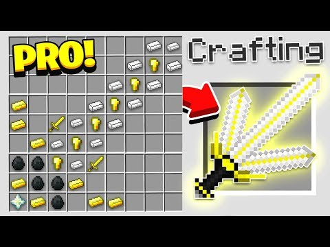 HOW TO CRAFT A 10 000 GOD SWORD OVERPOWERED Minecraft 1.13 Crafting Recipe
