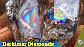 Digging Rainbow Herkimer Diamond Quartz Crystals in New York