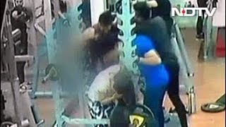 Enraged Man Punches And Kicks Woman In Indore Gym. Caught On CCTV