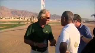 لاعب الغولف غريغ نورمان يدشن مجاز الغولف العالمي بالأردن