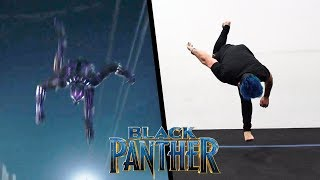 Stunts From Black Panther In Real Life (Parkour, Tricking)