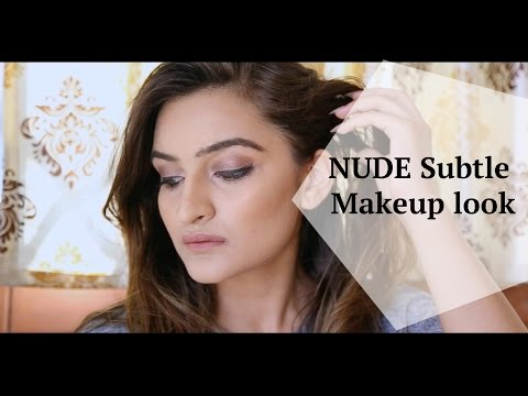 Nude Subtle Makeup Look!!