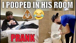 TAKING POOP IN HIS ROOM PRANK!! (INSANE)