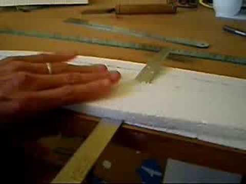 Técnica para cortar asa de isopor com faca