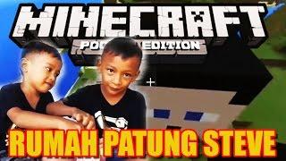 Minecraft Pocket Edition RUMAH PATUNG STEVE KOCAK