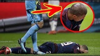 شاهد إصابة مبابي الخطيرة في مباراة ليون قد تحرمه من مباراة ريال مدريد