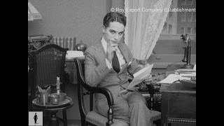 Charlie Chaplin Reading Fan Mail - Rare Archival Footage