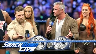 The new SmackDown Tag Team and Women's Titles are unveiled: SmackDown Live, Aug. 23, 2016