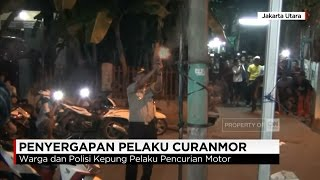 Dorr! Baku Tembak Polisi & Pencuri Motor di Jakarta Utara