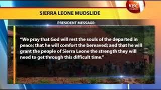 Mudslides claim more than 300 lives in Sierra leon