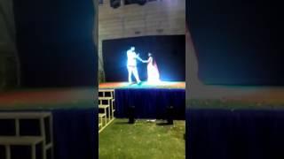 Romantic dance of hub wife