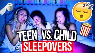 High School Sleepovers Vs. Child Sleepovers!