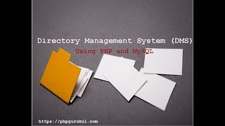 Directory Management System Using PHP and MySQL