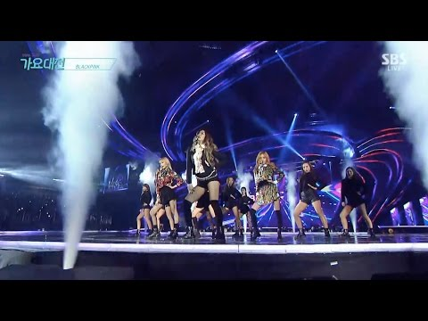Download BLACKPINK - '휘파람 (WHISTLE)' + '불장난 (PLAYING WITH FIRE)' in 2016 SBS Gayodaejun