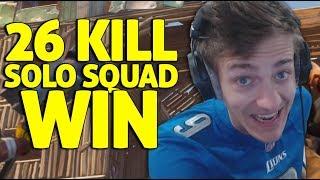 26 Kill Solo Squad Win!! - Fortnite Battle Royale Gameplay - Ninja