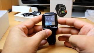 UWatch U8 Bluetooth Smart Watch for Android mobile review and how to install Smart Watch Helper App