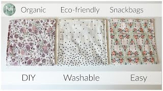 How to Sew Easy Organic Snack Bags | Collab with Healthy Grocery Girl