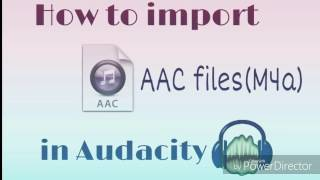 How To Import .AAC files(M4a) in Audacity | FFMPEG  installation