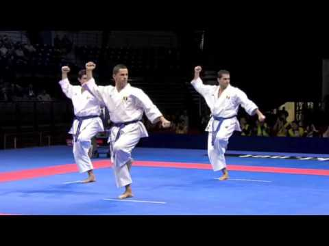 Karate Male Team Kata Final Japan vs. Italy WKF World Championships Belgrade 2010 2 2