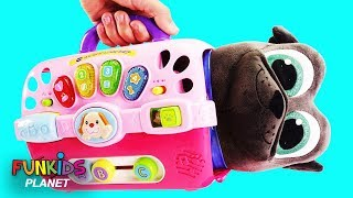Puppy Dog Pals Bingo & Hissy Cat & Dog Carriers Playset - Learn Color Videos For Kids