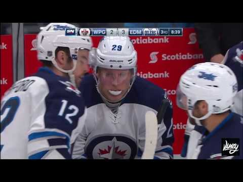 Laine snipes one into his own net!