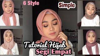 Hijab Segi Empat Simple Sehari-hari (6 style)