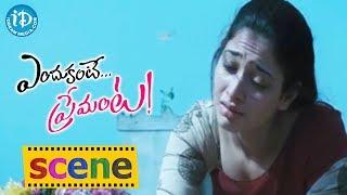 Endukante Premanta Movie Scenes    Tamanna Cries for Ram's Love