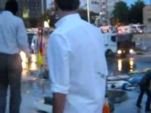 Taksim Gezi Parkı, sert müdahale sonrası tomayla direnişçiler - 11.06.13