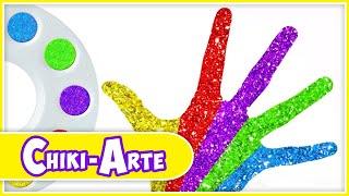 Aprende los Colores con Pintura de Glitter para Manos | Los Juguetes Son Divertidos