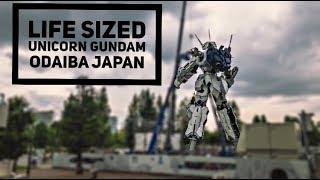 REAL SIZED 'UNICORN GUNDAM' Odaiba JAPAN 'Tokyo driver'
