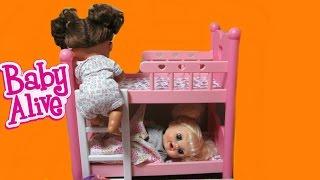 BABY ALIVE Dolls Sneak out of Bed Compilation: Real Surprises Doll+Learns to Potty+Baby Go Bye Bye