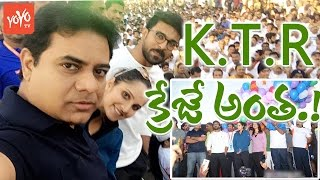 Ram Charan, Sania Mirza, Raashi Khanna Crazy Selfies With #KTR @ Hyderabad 10K Run | YOYO TV Channel