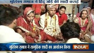 Muslim Community Organizes Mass Wedding for Hindu Couples in Jaipur