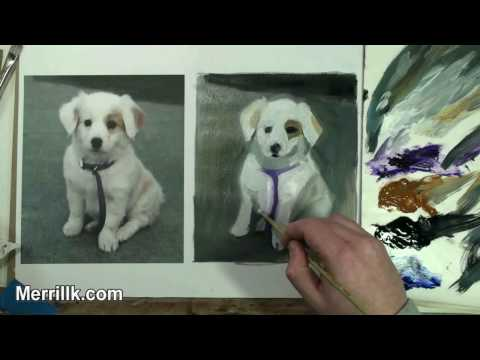 Learn Oil Painting 1/2: How to Paint a Puppy Dog