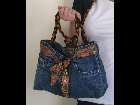 DIY Fashion Jeans BAG recycled denim DIY Bag Vol 1A