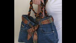 DIY Fashion Jeans BAG ( recycled denim) DIY Bag Vol 1A