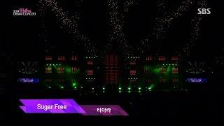 141012 2014 한류드림콘서트 티아라  Opening Stage + 신라의 달밤 + Sugar Free [2014 HalYu Dream Concert T-ara]