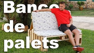 Banco de palets | Sillón de palets | Muebles con palets de madera