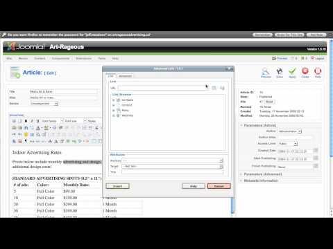 Adding PDF & DOC Files to Joomla