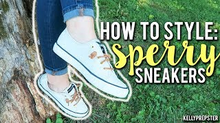 HOW TO STYLE: SPERRY SNEAKERS!! 3 PREPPY OUTFITS- PERFECT FOR BACK TO SCHOOL || Kellyprepster