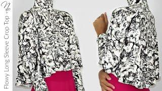 Nadira037 | DIY | Long Sleeve Crop Top | PATTERN INCLUDED
