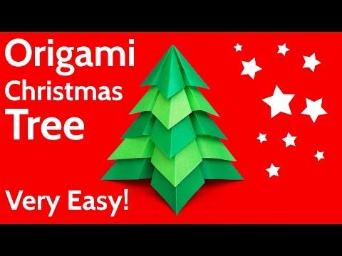 Make a Very Easy Origami Christmas Tree 🎄 DIY Tutorial