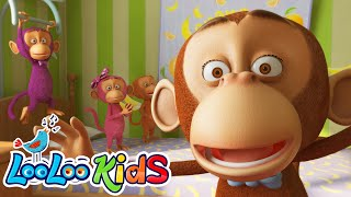 Five Little Monkeys - THE BEST Song for Children | LooLoo Kids