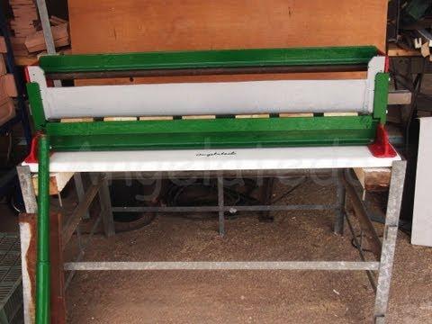 Plegadora o dobladora de chapa casera de guillotina manual 1 5 Funcionamiento