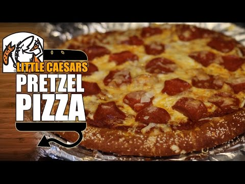 Little Caesar s Soft Pretzel Crust Pizza Recipe Remake with Pizza Sauce HellthyJunkFood
