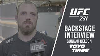 "UFC 231: Gunnar Nelson - ""I Finished Him with an Elbow"""