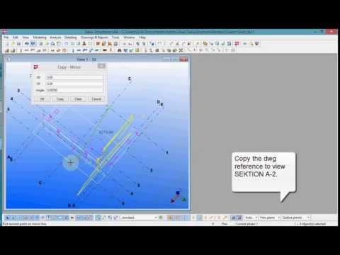 Tekla modeling tutorial Bridge support part 1 6