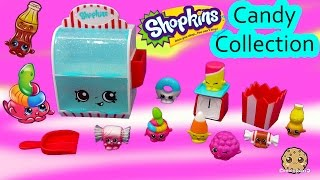 CANDY COLLECTION Shopkins Season 4 Food Fair Playset 8 Exclusives Cookieswirlc Unboxing Video