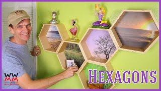 Funky Hexagon Honeycomb Wall Shelves | WWMM ART & DESIGN