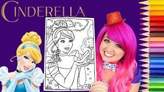 Coloring Cinderella Disney Princess Coloring Book Page Prismacolor Colored Pencil   KiMMi THE CLOWN